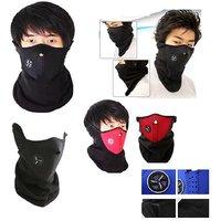 Pickadda Neoprene Unisex Pollution/Cold Wind Protection Half Face Mask/Neck Warmer - Assorted