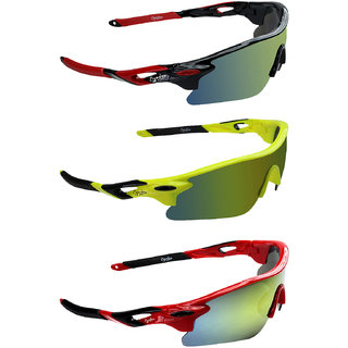 bf9d684684df Buy Zyaden Yellow UV Protection Unisex Sports Sunglass Online ...