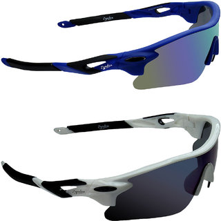 94f46180c6d6 Buy Zyaden Blue UV Protection Unisex Sports Sunglass Online   ₹799 ...