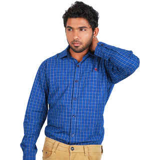 BarryLine London Blue Tartan Checked Casual Shirt