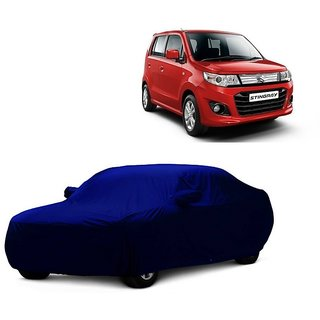 AutoBurn Car Cover For Hyundai Eon (Blue With Mirror )