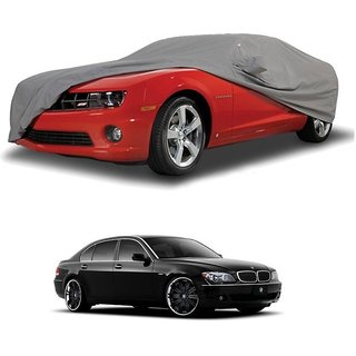 RideZ All Weather  Car Cover For BMW 5 Series (Grey With Mirror )