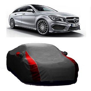 RideZ All Weather  Car Cover For Mercedes Benz Benz S 300 (Designer Grey  Red )