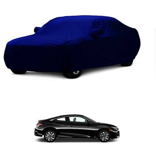 RoadPluS All Weather  Car Cover For Fiat Abarth (Blue With Mirror )