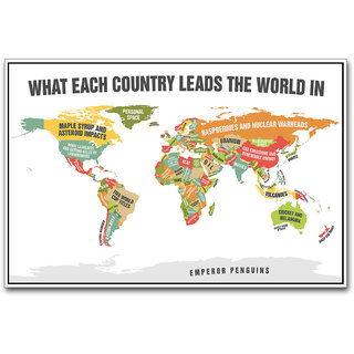 Buy world map leading countries poster by artifa online shopclues world map leading countries poster by artifa gumiabroncs Gallery