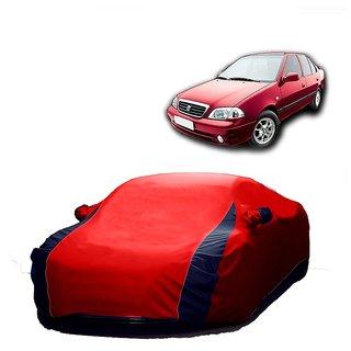 RoadPluS All Weather  Car Cover For Hyundai Elite I20 (Designer Red  Blue )