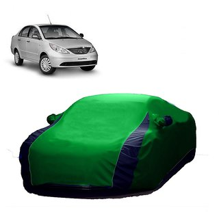 RideZ All Weather  Car Cover For Fiat Palio (Designer Green  Blue )