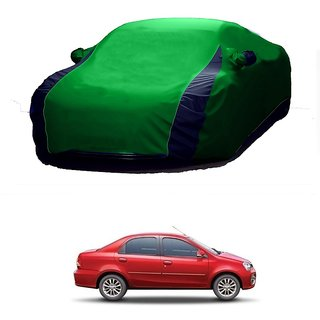 RideZ All Weather  Car Cover For Ford Endeavour (Designer Green  Blue )