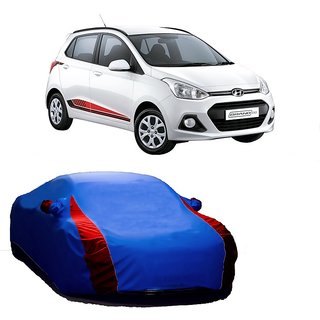 SpeedRo All Weather  Car Cover For Fiat Grande Punto (Designer Blue  Red )
