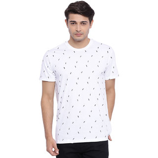 Deezeno White Printed T-Shirt