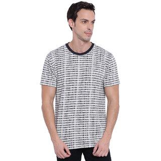 Deezeno Navy Blue Textured T-Shirt