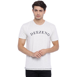 Deezeno White Melange T-Shirt