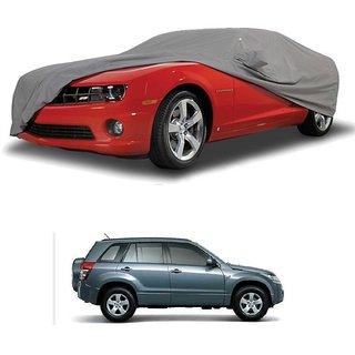 AutoBurn UV Resistant Car Cover For Maruti Suzuki Gypsy MG-410 (Grey With Mirror )