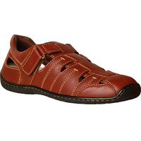 HUSH PUPPIES -Men Brown Leather Sandal
