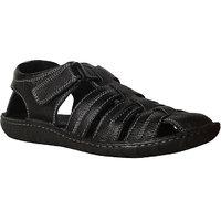 HUSH PUPPIES -Men Black Leather Sandal