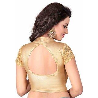 Sr Studio Gold Stitched Cotton  Blouse