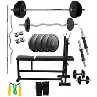 VENOM Home Gym With 44 Kg. Weight Plates, Dumbell Rods,
