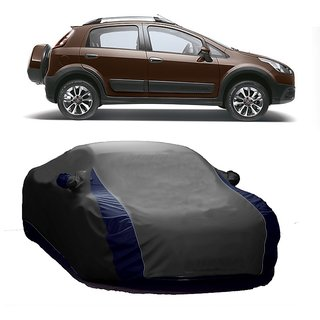 SpeedRo All Weather  Car Cover For Ford Aspire (Designer Grey  Blue )