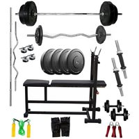 VENOM Home Gym With 20 Kg. Weight Plates, Dumbell Rods,