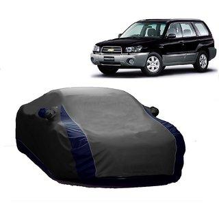 SpeedRo All Weather  Car Cover For Ford Figo (Designer Grey  Blue )