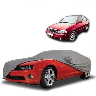 SpeedRo All Weather  Car Cover For Hyundai Elantra (Grey With Mirror )
