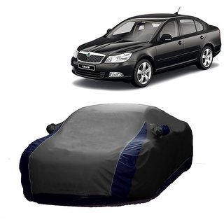 SpeedRo All Weather  Car Cover For Fiat Linea Classic (Designer Grey  Blue )