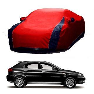 AutoBurn Car Cover For Mahindra Reva (Designer Red  Blue )