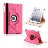 Callmate 360 Rotating Leather Cover Case For IPad Mini  With Free Screen Guard - Pink