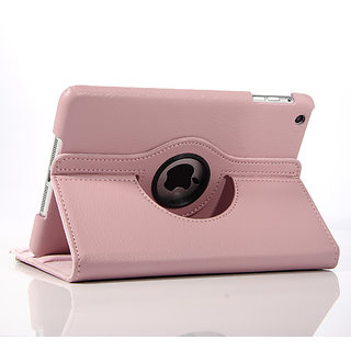 Callmate 360' Rotation Case for iPad 2, 3  4 With Free Screen Guard- Pink