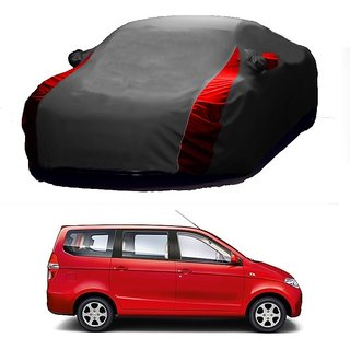 SpeedGlorY All Weather  Car Cover For Renault Duster (Designer Grey  Red )