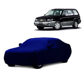 SpeedRo All Weather  Car Cover For Mahindra Scorpio 2015 (Blue With Mirror )