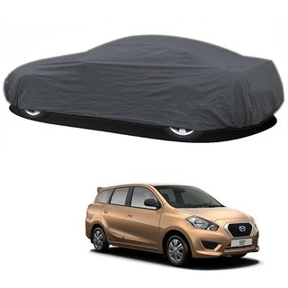 SpeedRo All Weather  Car Cover For Nissan Go+ (Grey Without Mirror )