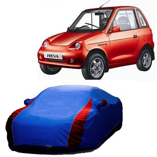 RoadPluS All Weather  Car Cover For Mahindra Scorpio (Designer Blue  Red )