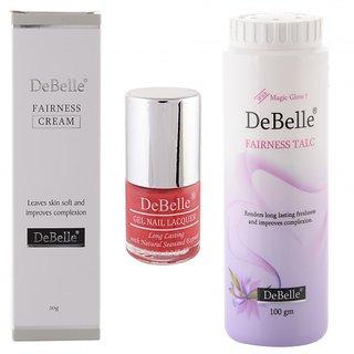 DeBelle Beauty Kit (DeBelle Fairness Cream 50g ,Fairness Talc 100g  DeBelle Nail Polish)