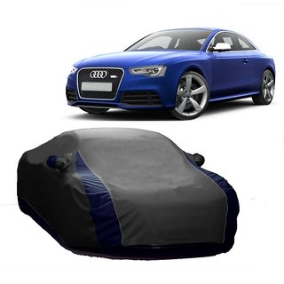 AutoBurn Car Cover For Mahindra Scorpio (Designer Grey  Blue )