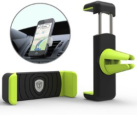 Tukzer Air Vent Universal Car Mount Mobile Holder (Black and Green)
