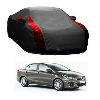 SpeedRo All Weather  Car Cover For Honda Brio (Designer Grey  Red )