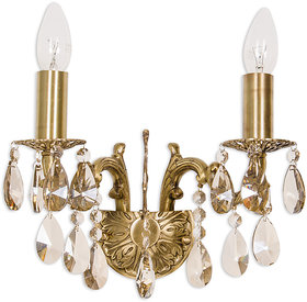 Fos Lighting Candle Lamp Honey Crystal Double Sconce