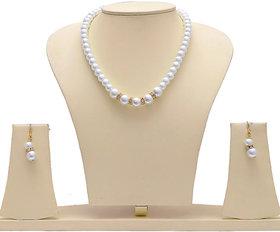 Styylo Jewels Exclusive Golden White Necklace Set M-726