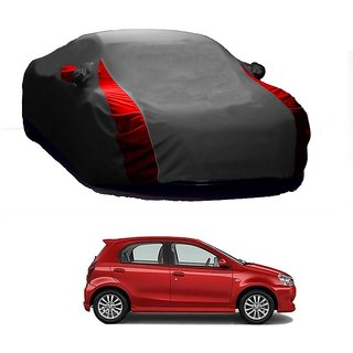 Speediza Water Resistant  Car Cover For Hyundai Elite I20 (Designer Grey  Red )
