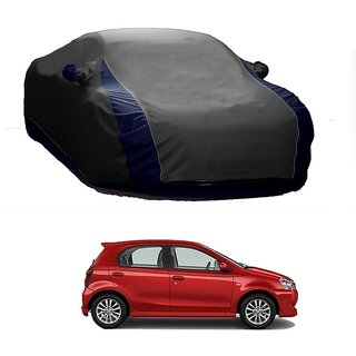 AutoBurn Car Cover For Toyota Etios Cross (Designer Grey  Blue )