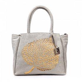 Silvery Leaf Tote Bag