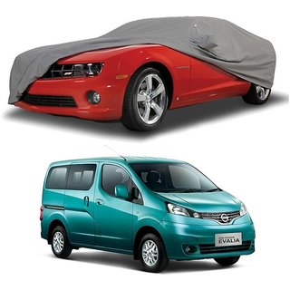 MotRoX Water Resistant  Car Cover For Nissan Evalia (Grey With Mirror )