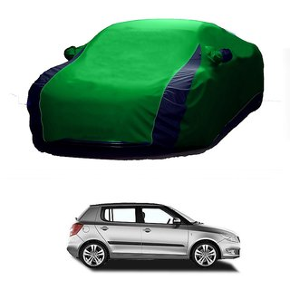 RoadPluS Water Resistant  Car Cover For Toyota Etios Cross (Designer Green  Blue )