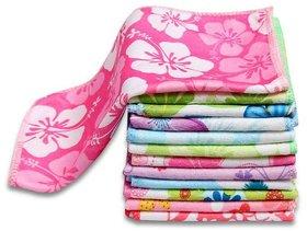 flower design Face Towel Pack of 10 for Women
