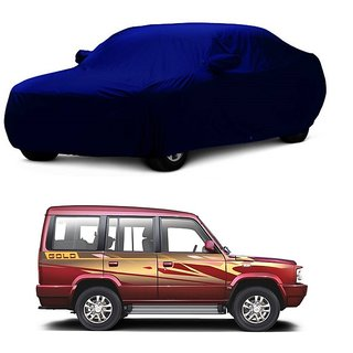 MotRoX Water Resistant  Car Cover For Hyundai Eon (Blue With Mirror )