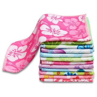 flower design Face Towel Pack of 10 for Women