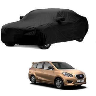 SpeedGlorY All Weather  Car Cover For Nissan Go (Black With Mirror )