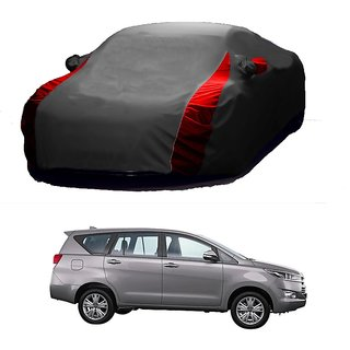 SpeedRo All Weather  Car Cover For Honda Jazz (Designer Grey  Red )
