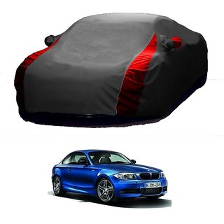 AutoBurn All Weather  Car Cover For Tata Zest (Designer Grey  Red )